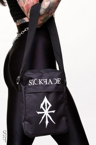 Visací náušnice s keltským symbolem a ptačí lebkou ve stříbrné barvě.