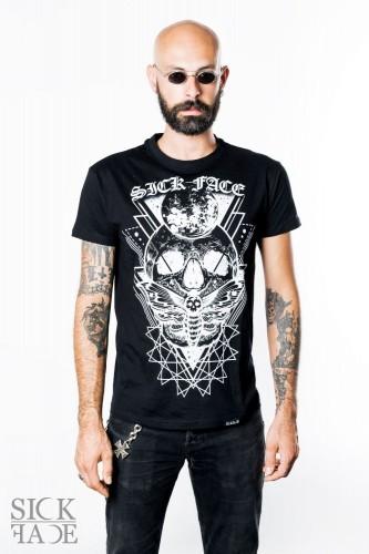 Pánský černý bomber značky SickFace s výšivkou okultního motivu Zombie na zádech.