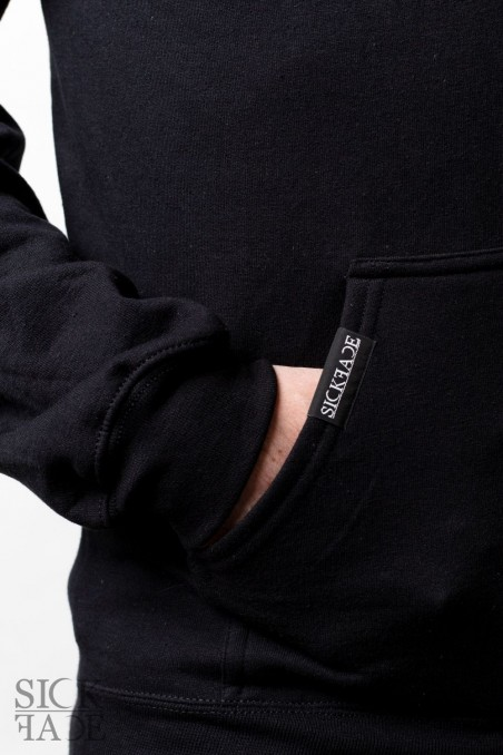 Detail on pocket branded with SickFace logo.