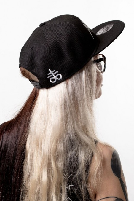 SickFace snapback with a leviathan cross on the back.