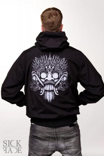 Unisex SickFace bunda, na zádech je král duchů Barong.