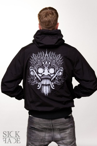Unisex SickFace windbreaker with king of the spirits Barong on the back.