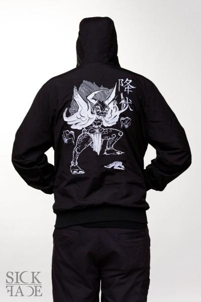 Unisex SickFace bunda, na zádech je japonský démon Yokai.