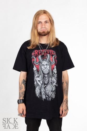 Černé pánské tričko, na kterém je Redzed.