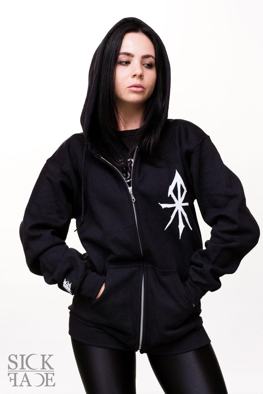 Lady in a SickFace unisex hoodie